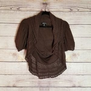 Charlotte Russe brown cardigan womens size S